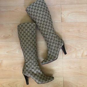 Gucci Tall Logo Boots size 7B